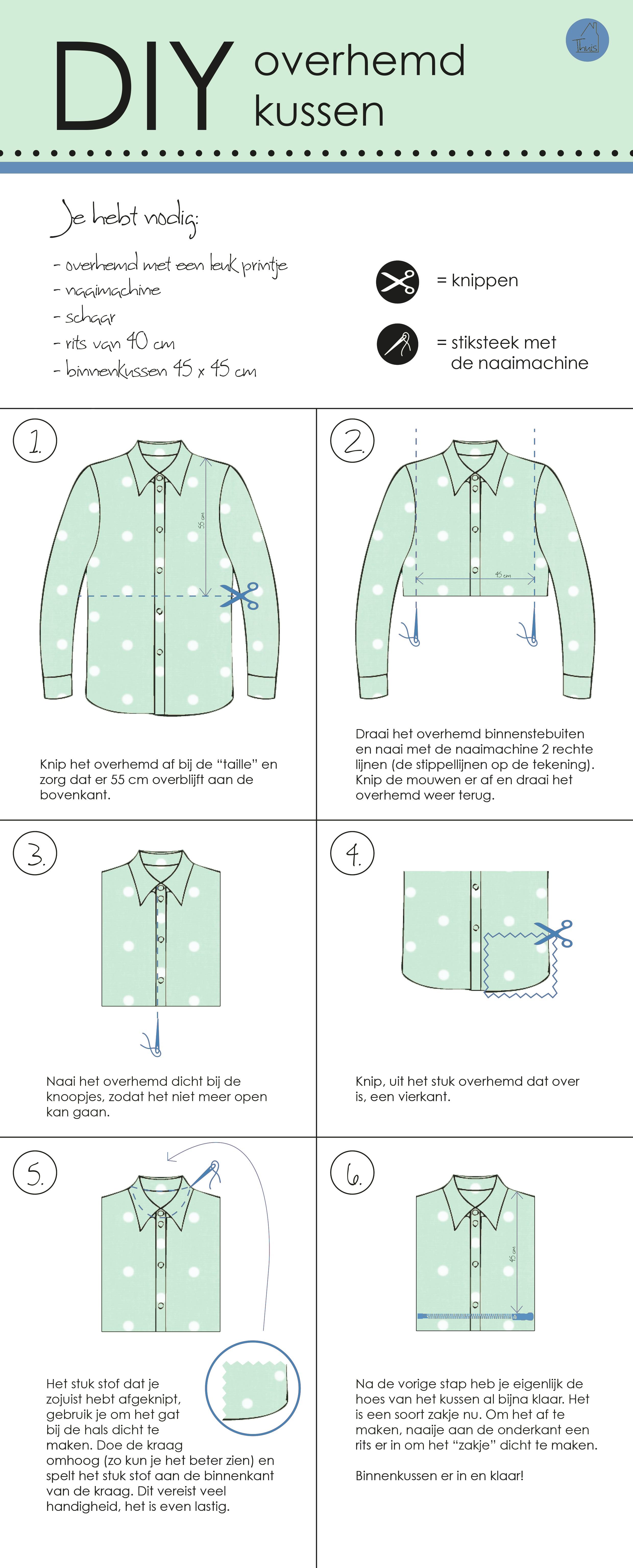 DIY overhemd kussens