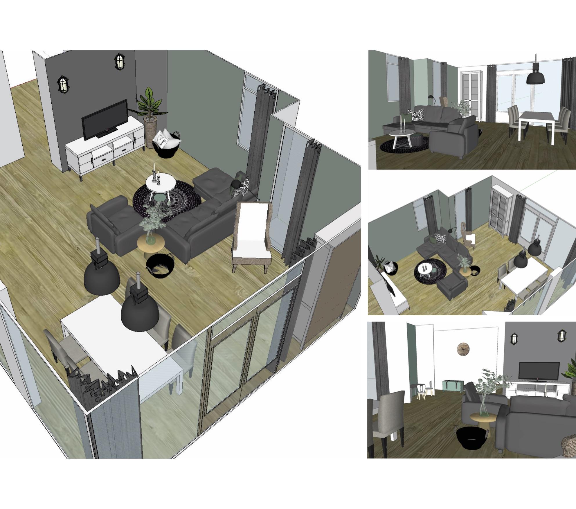 3D tekeningen interieuradvies 1 - THUIS interieur & woondeco