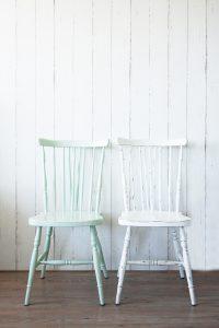 Mintgroen en witte stoel restyle