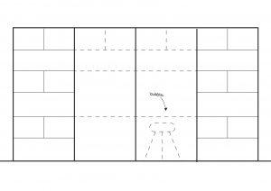 Wand meubel optie 2