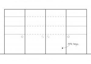 Wand meubel optie 3