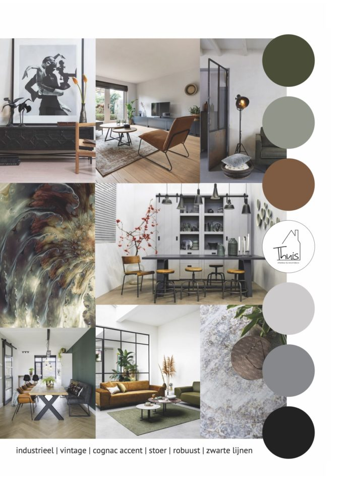 moodboard interieur get the look industrieel vintage