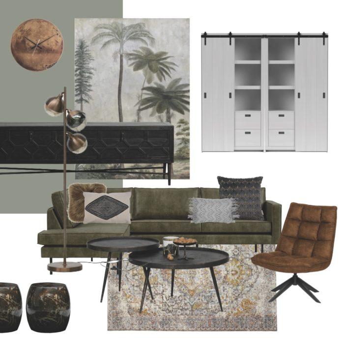 get the look industrieel vintage interieur donkergroen